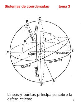 sistemas de coordenadas empleados en astronomia.