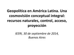 Recursos naturales en América Latina. Hacia una