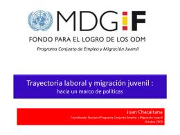 Jóvenes migrantes: hacia un marco de políticas - oit