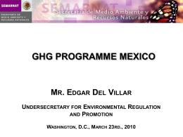 Hacia una estrategia nacional de acción climática Diciembre 2006