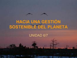 HACIA UNA GESTIÓN SOSTENIBLE DEL PLANETA