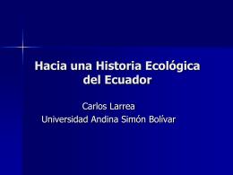 Hacia una Historia Ecológica del Ecuador