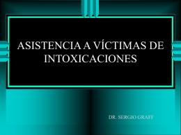 Asistencia a víctimas de intoxicaciones