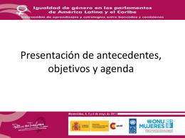 """""""Presentación Antecedentes y Objetivos"""", Neus Bernabeu"""