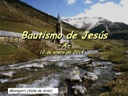 12 de enero de 2014 BAUTISMO DEL SEÑOR (Salmo)