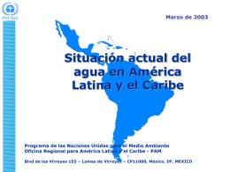 Diagnóstico de la problemática del agua en América Latina y
