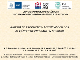 INGESTA DE PRODUCTOS LÁCTEOS ASOCIADOS AL CÁNCER
