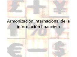 Armonización internacional de la información financiera