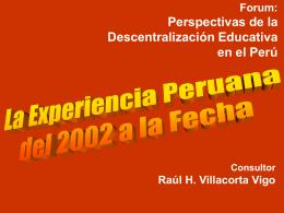Diapositiva 1 - Ministerio de Educación del Perú