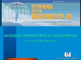 Accesos Terrestres a los Puertos