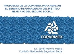 propuestas de la coparmex para ampliar el servicio de guarderias