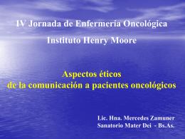 Información - Instituto Oncológico Henry Moore