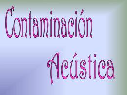 Contaminación acústica 1