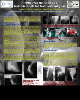 Alternativas quirúrgicas al tratamiento de las fracturas antiguas