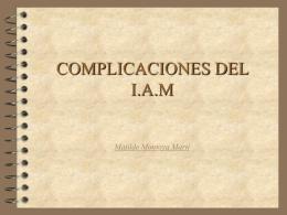 COMPLICACIONES DEL I.A.M