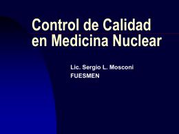 Control de Calidad en Medicina Nuclear autor Sergio Mosconi