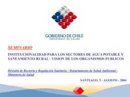 OBJETIVO SANITARIOS 2000 - 2010 de Salud Ambiental