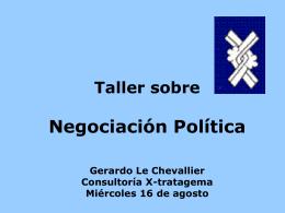 Taller negociacion politica