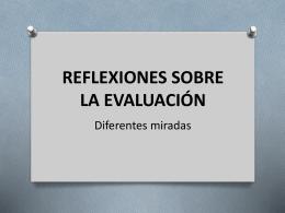 reflexiones sobre la evaluación
