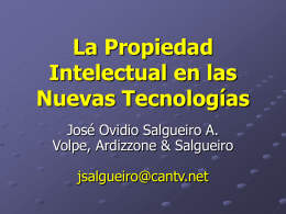 La propiedad intelectual de soluciones y servicios