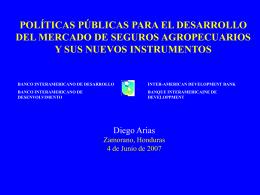 Plíticas Públicas para el Desarrollo del Mercado de Seguros
