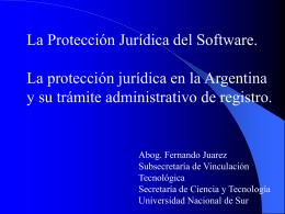 Presentación de PowerPoint - Universidad Nacional del Sur