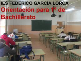 ORIENTACION alumnos de 1 Bachillerato _2015