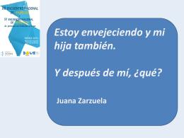 Presentación de Juana Zarzuela