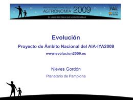 Slide 1 - Año Internacional de la Astronomía 2009 en España