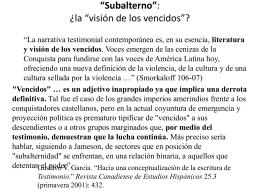 """""""Subalterno"""", según el Grupo de Estudios Subalternos"""