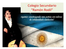 "Colegio Secundario Ramon Rodil"""