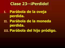 Clase 23--¡Perdido!