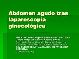 Abdomen agudo tras laparoscopia ginecológica
