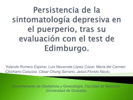 Persistencia de la sintomatología depresiva en el puerperio, tras su