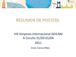 Resumen de pósters