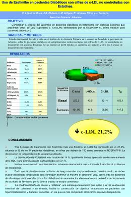Ezetimibe en Diabéticos con LDL colesterol elevado (356