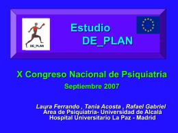 Estudio DE PLAN X Congreso Nacional de Psiquiatría