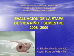 evaluacion niño 09 - (DISA) IV Lima Este