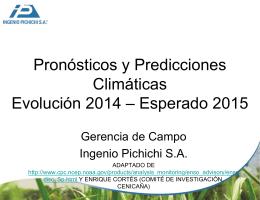 20141210 Predicciones y pronósticos El Niño