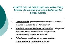 Observaciones Finales del Comité sobre los Derechos del Niño