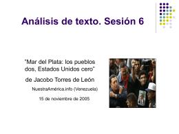 Análisis de texto. Sesión 6