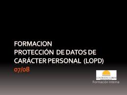Formacion LOPD