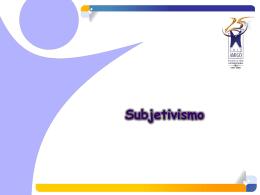 Subjetivismo - Etica