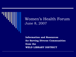 Women`s Health Forum