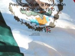 Presentación de la revolución mexicana