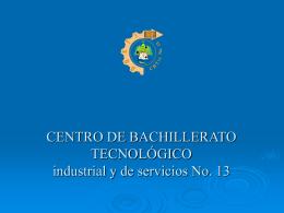 C.B.T.I.S. No. 13