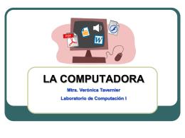computadora - Mtra. Verónica Tavernier