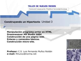 Construyendo un Hipertexto