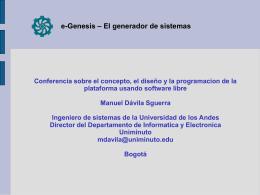 e-Genesis – El generador de sistemas Agendas