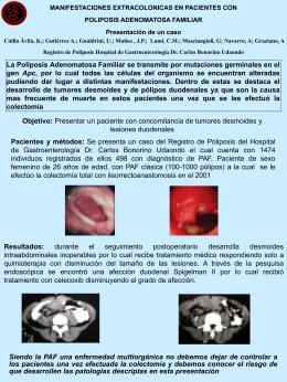 Manifestaciones Extracolónicas en Pacientes con Poliposis